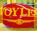11 feet long advertising blimp with Voyle logo